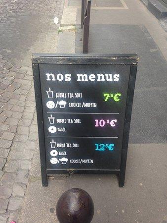 Ô Bubble : menu