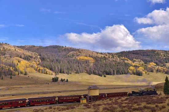 Antonito, CO: Cumbres & Toltec Train at Water Tower
