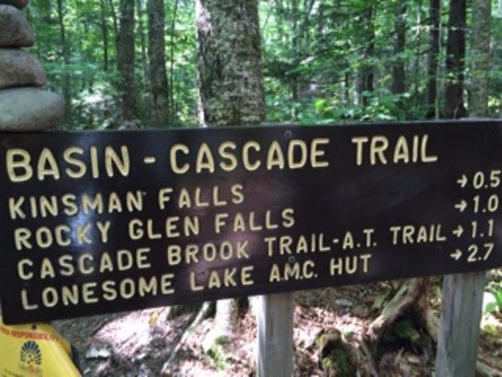 Franconia, Nueva Hampshire: Sign pointing to several sites along the Trail