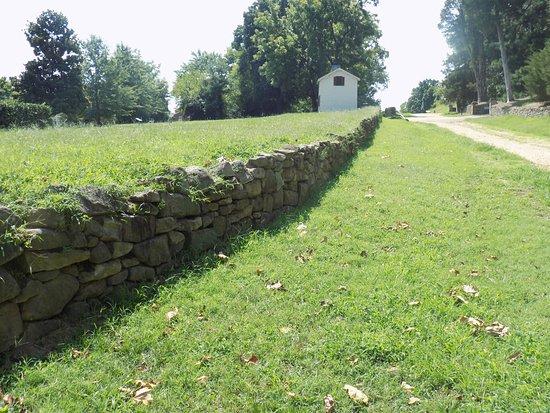 Fredericksburg, VA: Original Stone Wall and Innis House