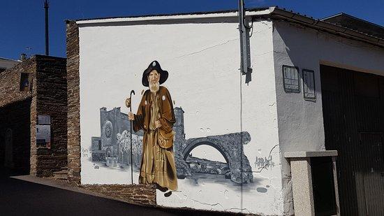 Portomarin, Spain: Pintura mural