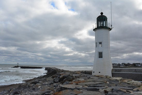 Scituate Lighthouse and breakwater