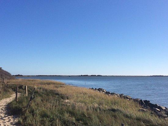 Ocracoke, Carolina del Nord: sound-side beach