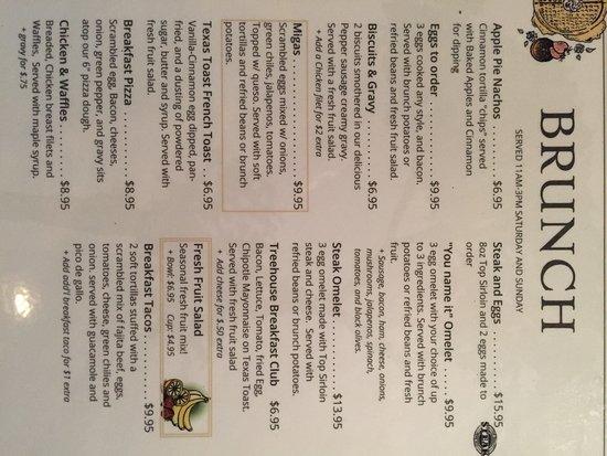 Roanoke, TX: Brunch menu