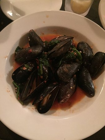 Mustard Seed: Delicious mussels in tomato basil sauce. Yum!