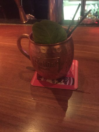 Racks Downtown Eatery + Tavern : Strawberry Basil Mule