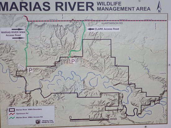 Marias River State Park and Wildlife Management Area map Picture