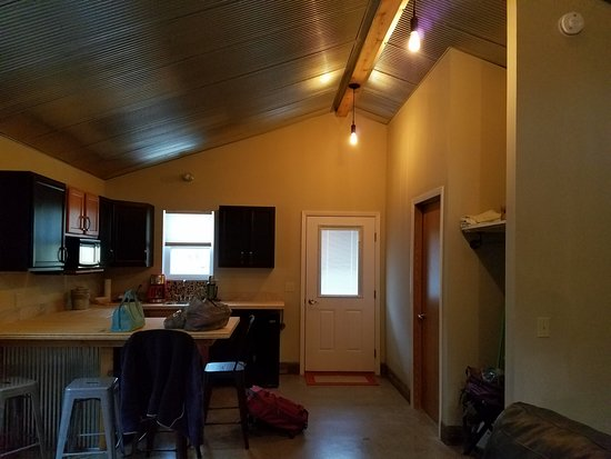 Eastport, MI: Cottage kitchen from bed area