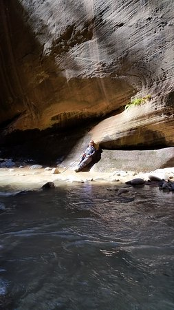Springdale, UT: found the only ' sun spot ' in wall street canyon which lasted 10 minutes