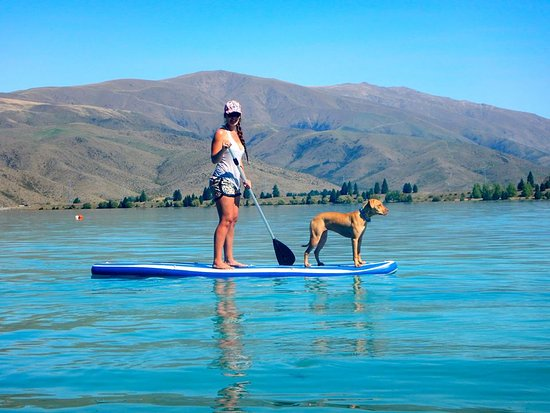 Twizel, New Zealand: Jess and her dog summer off 2015