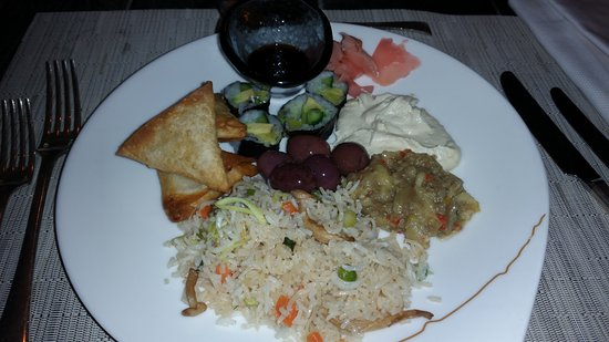 The St. Regis Doha: Full plate of vegan food, and a second one came soon after