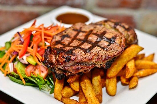 The Woolshed Cafe & Restaurant: Rump steak