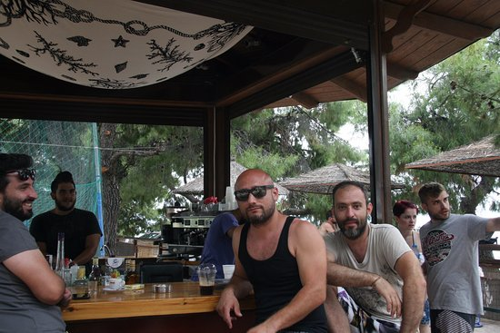 Rovies, Greece: Beach bar