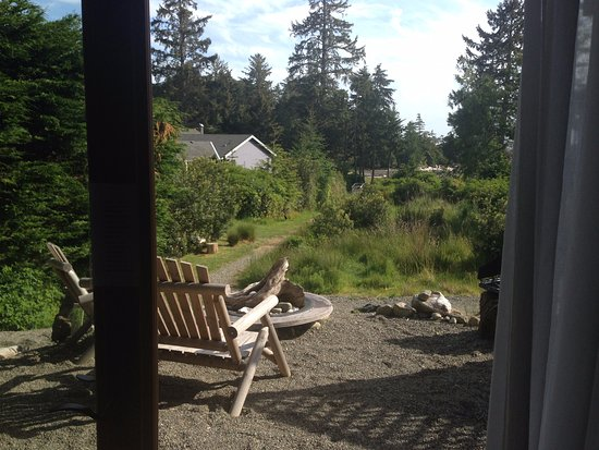 Wild Shores Guest House: View from just inside theroom out toward the cove