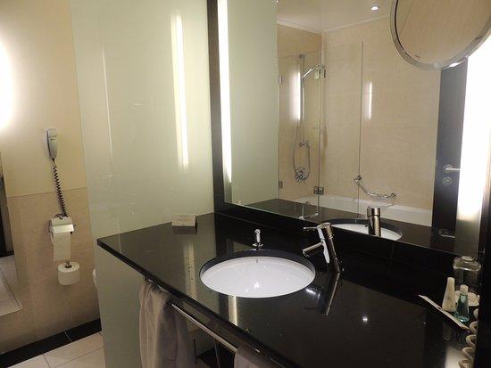 Steigenberger Hotel de Saxe: Vista do banheiro