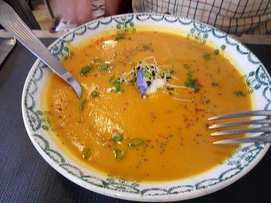 Cancon, France: Pumpkin soup