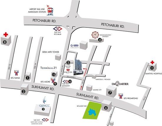 Tai-Pan Hotel: Map