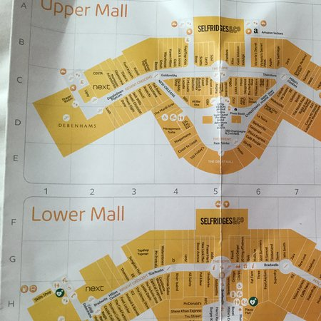 Trafford Centre Shop Map Map layout   Picture of intu Trafford Centre, Stretford   TripAdvisor