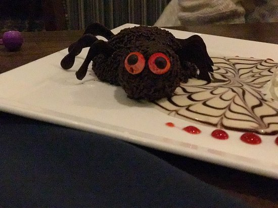 Madison Beach Hotel, Curio Collection by Hilton: A Chocolate Spider on my plate? :)