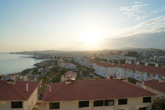 Melia Sitges: Utsikt från badrumsbalkongen