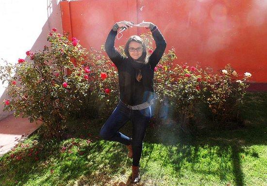 Imperial Cusco Hotel: Jardim do hotel cheio de roseiras