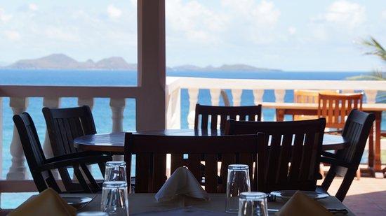 Saint Patrick, Grenada: Enjoy eating al fresco on our outdoor terrace with views.