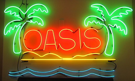 My favorite neon sign ever! - Picture of Oasis Restaurant, Fort
