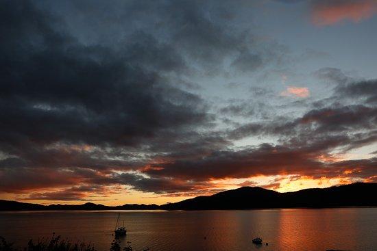 Strachur, UK: Sunset over Loch Fyne from Creggans