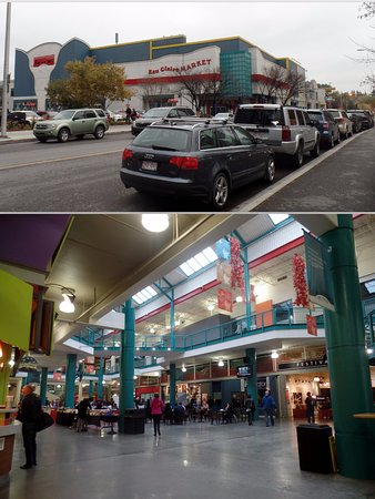 Eau Claire Market : Fachada e interior