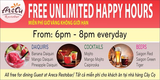 Areca restobar: BEST HAPPY HOURS EVER