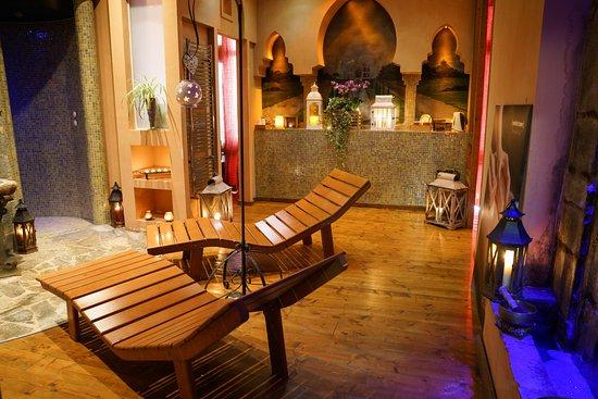 Cassino, Italy: area relax, con bagno turco, sauna, doccia di ghiaccio e aromoterapica