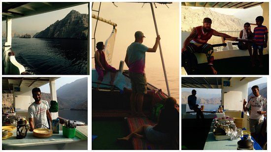 Dibba Al Bay Ah, Oman: a glimpse of Chuckie and the Team, including amazing scenery