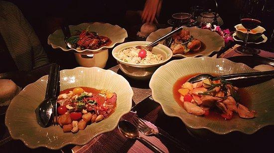 Restaurant Samui-Thai : Diverse Gerichte als Sharing