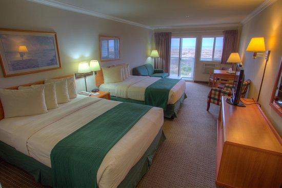 Ocean Shores, WA: Ocean view 2 Queen beds with Balcony