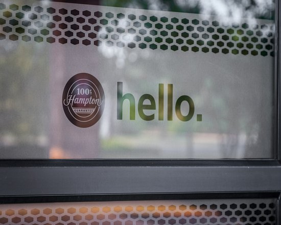 Hampton Inn Suites Columbus Hilliard : Hello Sign