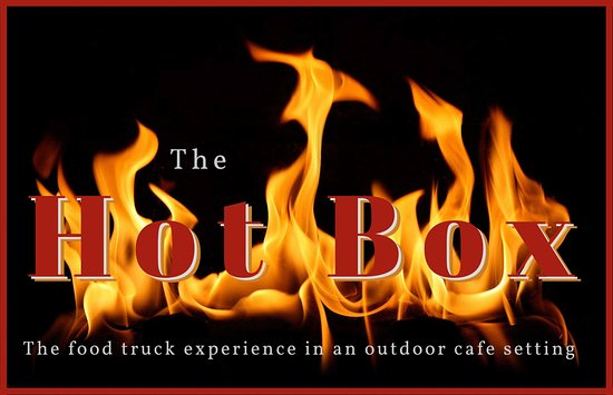 THE HOT BOX.  The food truck experience in an outdoor cafe setting.