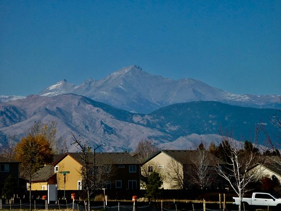 Erie, Колорадо: Views of l|Longs peak 14000+ from Thomas