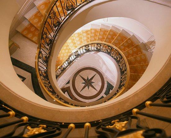 The Bentley London: Looking Down Stairwell