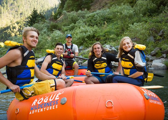 Merlin, OR: Rafting trips with friends on the Rogue River.