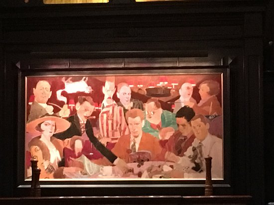 Algonquin Hotel: Famous painting of Hotel Guests
