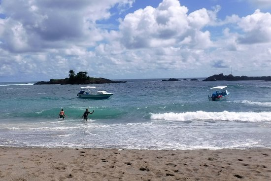 Drake Bay, Costa Rica: body surfing in the waves after snorkelingl