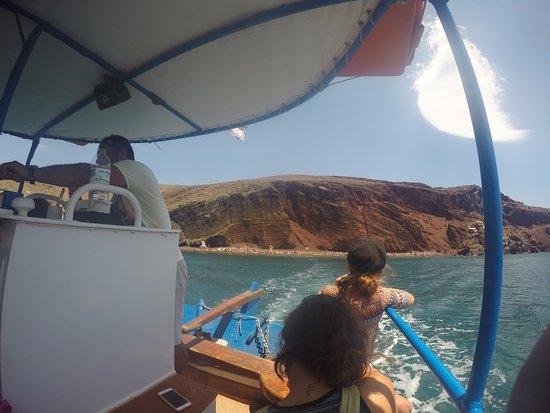 Akrotiri , Grekland: Leaving the red beach