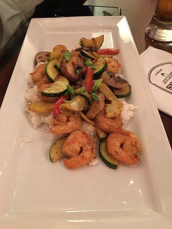 Princeton, IL: Thai vegetables with shrimp