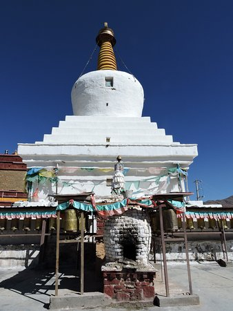 Gonggar County, China: Main Chorten and Fire Place