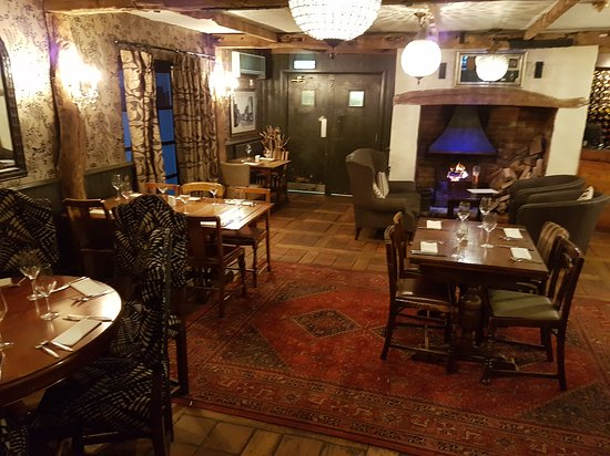 Tree Hotel At Cadmore End : Images of the inside of the restaurant and bar November 2016