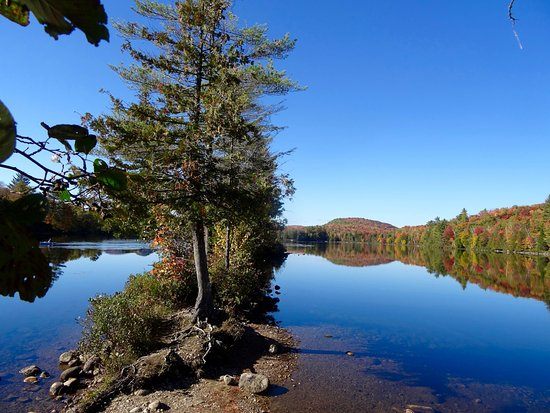 Groton, VT: Narrow Peninsula Jutting out into Ricker Pond, Perfect Picnic Spot