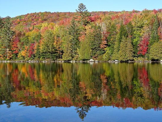Groton, VT: Reflections of Fall Foliage on Still Waters of Ricker Pond