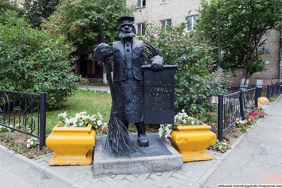 Sculpture of Street Cleaner