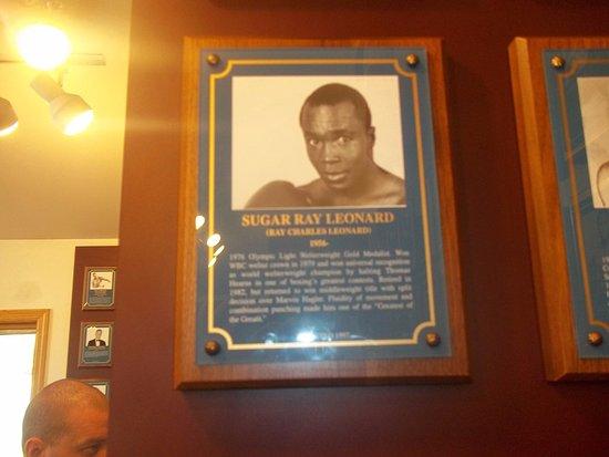 Canastota, NY: Sugar Ray Leonard.