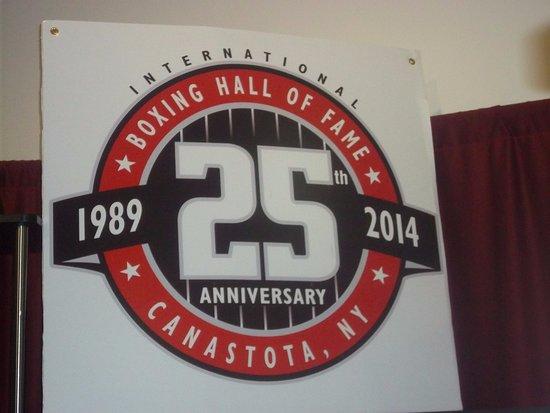 Canastota, NY: 25 anniversary banner